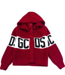 gcds red wool blend cardigan