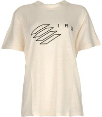 t-shirt met logoprint lucie  naturel