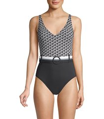 belted mio swimsuit