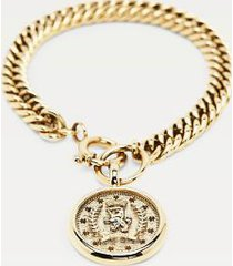 tommy hilfiger women's big chain bracelet wi crest gold -