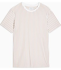 mens white and pink vertical stripe t-shirt