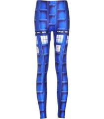 summer styles sexy 2016 women sport pants women's trousers fashion blue tardis h