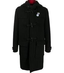 golden goose hooded duffle coat - black