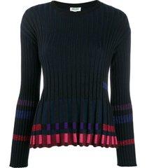 kenzo ridged knitted top - preto