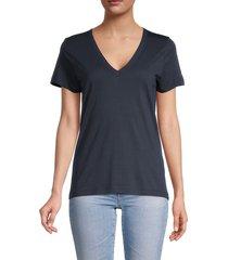 rag & bone women's core v-neck t-shirt - navy - size s