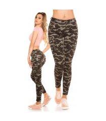 trendy cargo camouflage jeans leger-kleurig
