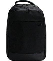 mochila notebook nylon costa acolchoada stradda executive - preto - masculino - dafiti