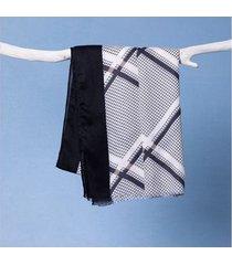 lenço lavínia cor: preto - tamanho: único