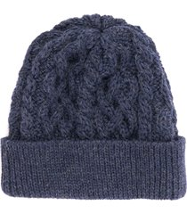 none of the above made in england cable knit beanie - denim 4818b