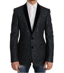 gold slim fit brocade blazer jacket