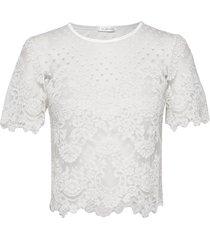 jane top blouses short-sleeved vit ida sjöstedt
