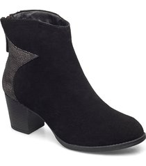 womens taxi - starbright shoes boots ankle boots ankle boot - heel svart skechers