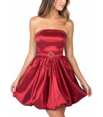 b darlin juniors' strapless bubble-hem dress