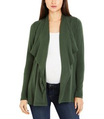 a pea in the pod maternity open-front draped cardigan