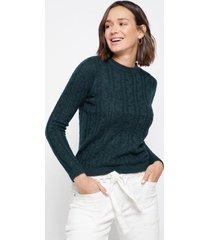 sweater trenzas verde family shop
