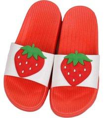fresa zapatillas luz suave antideslizante eva suela plana pantuflas casual