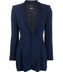 dsquared2 fitted blazer playsuit - blue