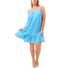 1.state plus size ruffled-hem dress