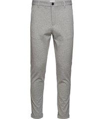 superflex knitted cropped pant kostymbyxor formella byxor grå lindbergh