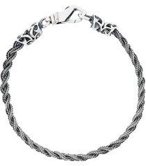 emanuele bicocchi thin braided bracelet - metallic
