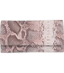 nordstrom selena leather clutch - pink