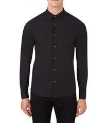 camisa ck chest logo slim stretch negro calvin klein