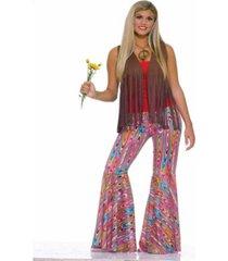 buyseason women's wild swirl bell bottom pants costume