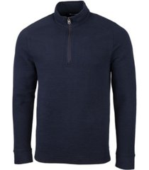 cutter & buck men's coastal half zip t-shirt