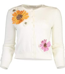 ombre pressed flower cardigan