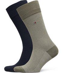 th men sock 2p micro stripe underwear socks regular socks grön tommy hilfiger