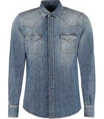 dolce & gabbana western style denim shirt