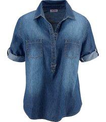 tunica in jeans con maniche a 3/4 (blu) - john baner jeanswear