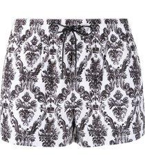dolce & gabbana paisley print swim shorts - white