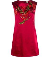 a.n.g.e.l.o. vintage cult 1990s floral-embroidered shift dress