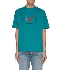 'paris love' slogan print t-shirt