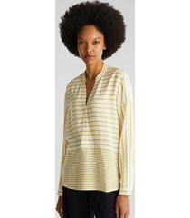 blusa de rayas amarillo esprit