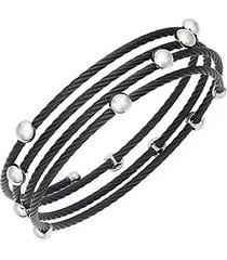 stainless steel coil bracelet