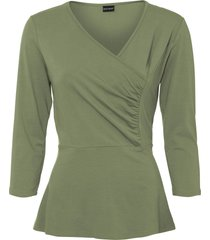 maglia a portafoglio (verde) - bodyflirt