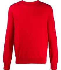a.p.c. plain crew neck sweatshirt - red
