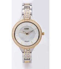 reloj para dama marca loix - ref l 1146-4 - dorado y plata
