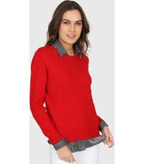 sweater rojo mecano classic