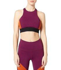 vimmia women's signature mixed elastic sports bra - currant - size s