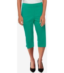 alfred dunner women's missy savannah allure stretch slim-fit capri pants