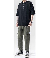 camiseta de algodón casual de verano para hombre soft