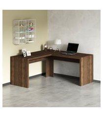 mesa para escritório angular tecno mobili me4116