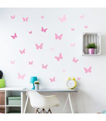 adesivo de parede borboletas tons de rosa 25un cobre 1,5mâ² - rosa - menina - dafiti