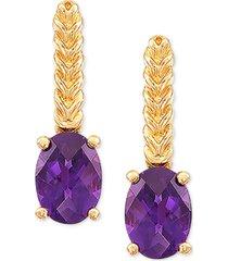amethyst drop earrings (1-3/8 ct. t.w.) in 14k gold