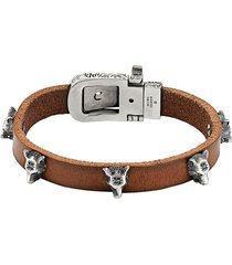 gucci anger forest leather bracelet - brown