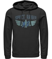 disney men's toy story space ranger star command logo, pullover hoodie