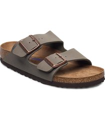 arizona soft footbed shoes summer shoes flat sandals grå birkenstock